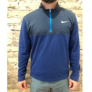 Blue and blue/grey two tone Nike Golf pull over